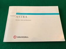 Vauxhall Astra G Owners Manual Handbook 1998 - 2004.  264 Pages.