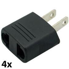 Travel Plug Adapters 4 piece set Eu to Usa Canada (220V to 110V)