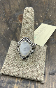 Barse Moonbeam Ring- Moonstone & Sterling Silver-10.5- New With Tags