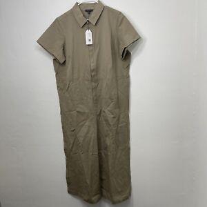 UNIVERSAL STANDARD Kate Twill Jumpsuit Plus Size Medium 18-20 Taupe NWT NEW $185