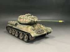 1/48 Built HobbyBoss 84807 WWII Russian T34/85 Tank Model