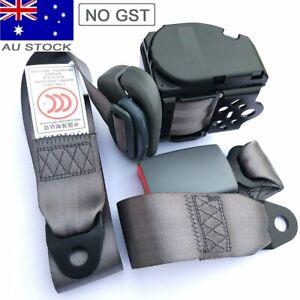 Grey Universal 3 Point Retractable AU Car Truck Seat Lap Belt For Subaru Suzuki
