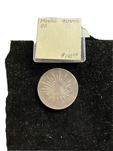 Mexico 1827 G A FS 8 R Silver Coin