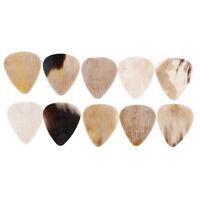 1/8Pcs Rare multi colored buffalo horn guitar pick hand made high quality pickBD