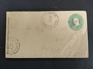 Iowa: Yarmouth 1883 Cover, Des Moines County Cancel & Fancy Star
