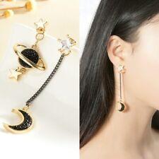 Korean Style Moon Star Planet Drop Dangle Earrings Asymmetric Women Jewelry