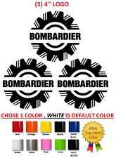 (#19) 3 X Bombardier logo sticker decal emblem