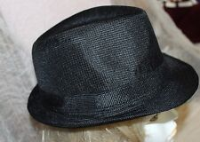 NEW SM BRIM BLACK FEDORA HAT TRILBY  GATSBY LARGE NEW YEARS EVE BLUES BROTHERS