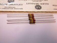 5 Allen Bradley Carbon Comp Resistors 220k 1/2 watt 5%  EB2245 RC20GF224J