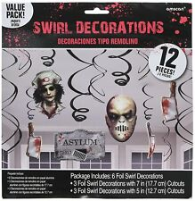 Asylum Halloween Decoration Birthday Party Supplies Dangler Pack of 12