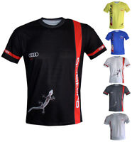 Audi S-line T-shirt Travel Maglietta Outdoor Camiseta Paddock Racing Gift RS3 S4