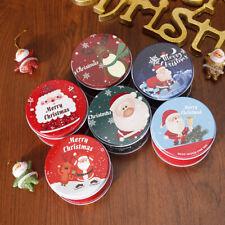 Christmas Candy Jar Storage Bottle Sweet Chocolate Candy Box Round tin tin byx