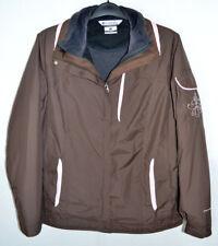 Columbia Bugaboo Interchange Coat Jacket Brown/Pink Outer Black Inner Women's L