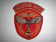 ARVN Mosquito Operations NGUYEN HUE And THOAI NGOC HAU Vietnam War Patch