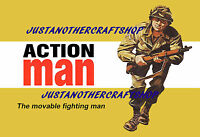 Action Man 1960's Poster A3 Size Advert Leaflet Shop Display Sign 42cm x 29.7cm