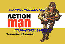 Action Man 1960's Poster A3 size Advert Leaflet Shop Display Sign - magnificent!