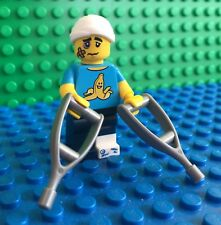 Lego 71011 Series 15 CLUMSY GUY Crutches Hospital Minifigures City Town New