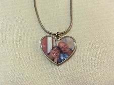 Personalised photo heart necklace. Heart photo necklace personalised. Your photo