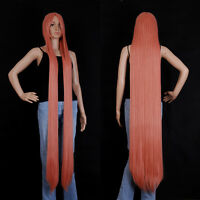 Gold Pink Extra Long cosplay wig Cosplay Party Costume Anime Hair 150cm/60''