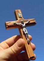 """Olive Wood Crucifix Hanging Wall Cross from Holy Land - Bethlehem, Jerusalem 5"""""""