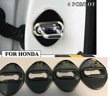 JDM 4psc Stainless Steel Door Lock Stickers Buckle Protective Trim Cover HONDA