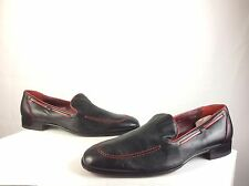 Men's Mezlan Custom Black Leather Slip On Loafer Formal Oxford Dress Shoes 10.5