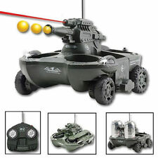 RC Radio Amphibious Airsoft Tank Toy Military Battle Vehicle Land Water Turret