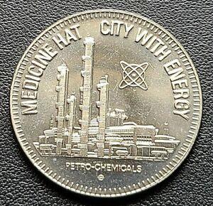 1977 Medicine Hat Alberta $1 Trade Dollar - City with Energy - Petro Chemicals