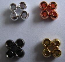 N. 30 sferette in tungsteno mm. 2 colori disponibili oro, argento, rame, nero