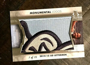 2014 Upper Deck James Worthy Monumental Logos; 1/15; UNC Tar Heels; LA Lakers