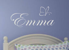 Wall Stickers custom baby name colour butterfly vinyl decal decor Nursery kids