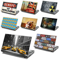 15.6 Laptop Skin Cover Sticker Decal Leather Effect -NEW DESIGNS- Made in the UK