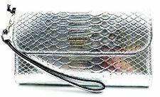 Victoria's Secret Silver Python iPhone Plus Case Tech Wallet Wristlet Clutch