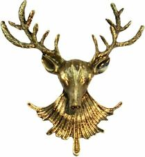 Bassin and Brown Mens Stag Lapel Pin - Bronze