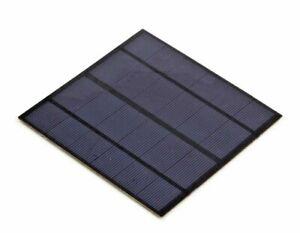 Mini Pannello solare fotovoltaico 6V 3W 495mA  monocristallino 145 x 145 x 3 m
