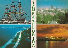 "*Florida Postcard-""Tampa, Florida"" (4 Small Pictures on One Postcard)"