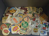 LOT OF 75 DOMESTIC USA AND IMPORT GERMANY ADVERTISING BEER COASTERS BREWERIANA