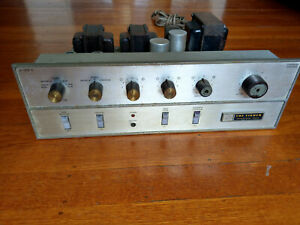 Fisher X-100-C Tube Stereo Integrated Amplifier with Phono - Works, Needs Tubes