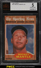 1962 Topps Mickey Mantle ALL-STAR #471 BVG 5 EX