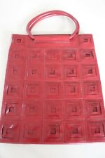 Vinyl carry bag – cherry with square pattern – brand new never used