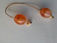 Greek Begleri mini komboloi smoky honey 18mm bead brown cord gp tinas creations
