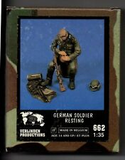 VERLINDEN 662 - GERMAN SOLDIER RESTING - 1/35 RESIN KIT NUOVO