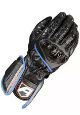 Akito Sports Rider Leather Motorcycle Glove Black/Blue Size XS