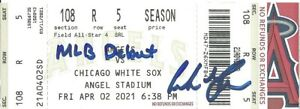 Andrew Vaughn Autographed MLB Debut Ticket Chicago White Sox 4/2/21 w/ insc !