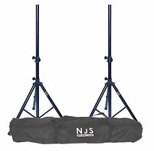NJS 2 Set Economy DJ Band Club Speaker Music Stand & Carry Bag Carry Case Kit