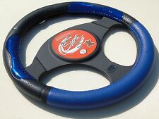 i - SUITABLE FOR A TOYOTA STARLET, STEERING WHEEL COVER, SWC P 30 M, BLUE/BLACK