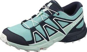 Salomon Kids Speedcross J Hiking Shoe, Meadowbrook/Navy/ICY Morn, 3 M US