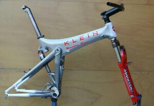 Retro Kult Klein Mantra Race carbon full suspension ATB MTB frame set Manitou