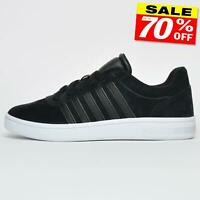 K Swiss Court Cheswick Mens Suede Leather Classic Retro Fashion Trainers Black