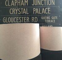 HANDMADE LAMPSHADE IN SUSIE WATSON PLAIN FABRIC PALE ROSE